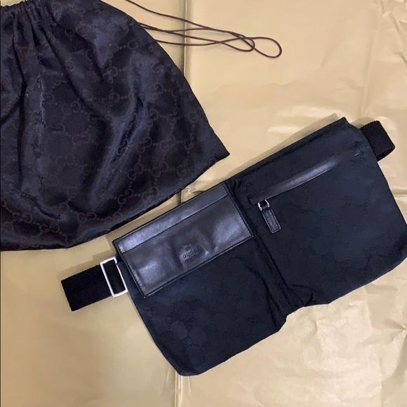 ef3f5deffae Gucci Fanny Pack\ Bum Bag\ Waist Pouch Belt Black